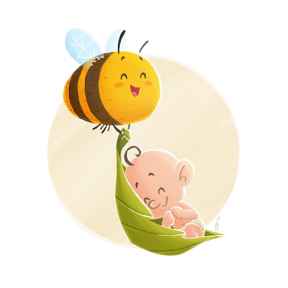 Birth announcement: bee