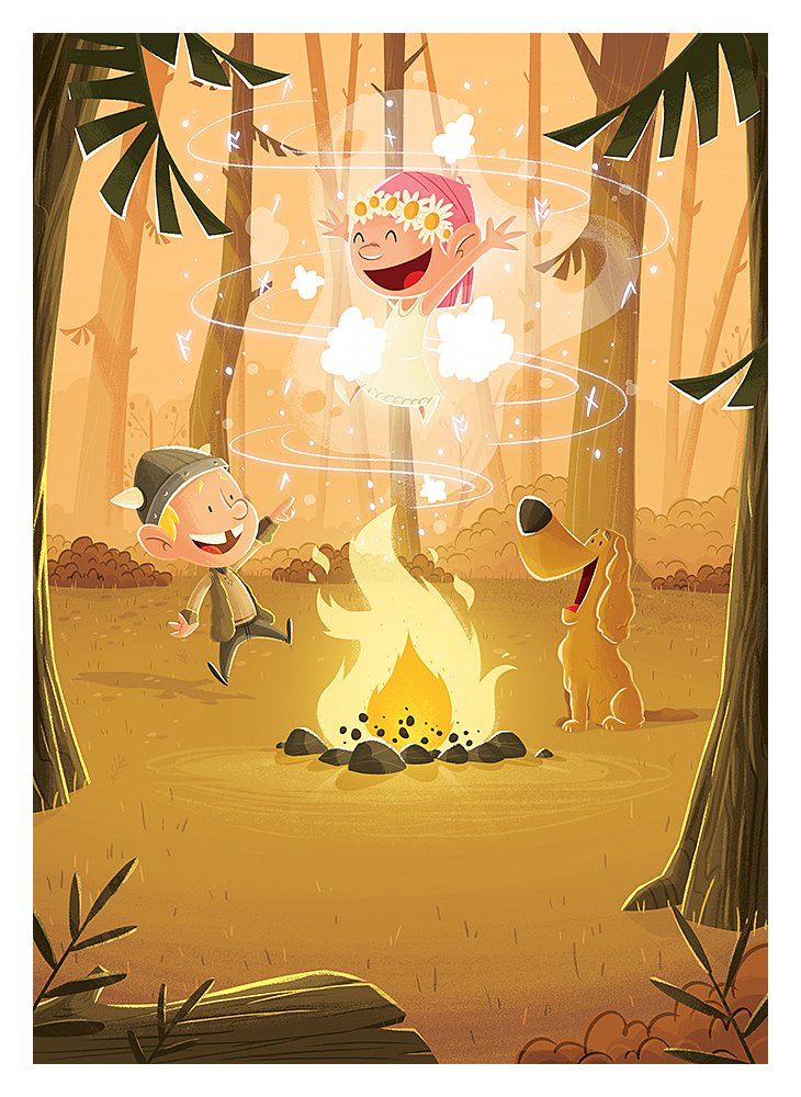 Birth announcement: bonfire